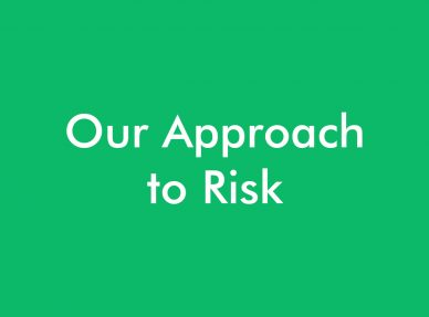 Our approach to risk